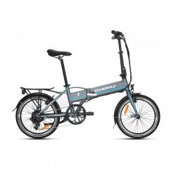 Rower elektryczny składany ZING Szaro-niebieski